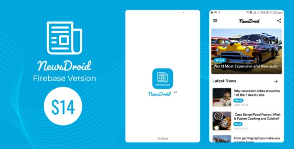 NewsDroid - Android News app with Admin Panel , Admob and Facebook Ads