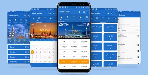 Islamic Utilities Muslims pro App with Admob Ads (Latest SDK Updated)