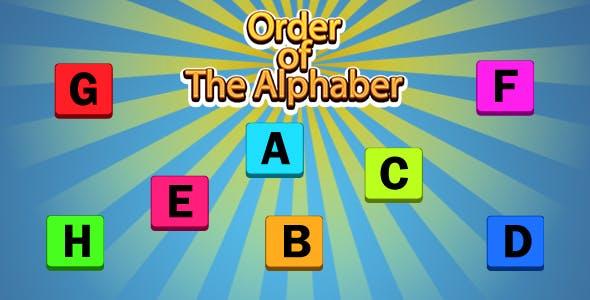 Order of The Alphabet Game (CAPX | HTML5 | Cordova) Mini Game