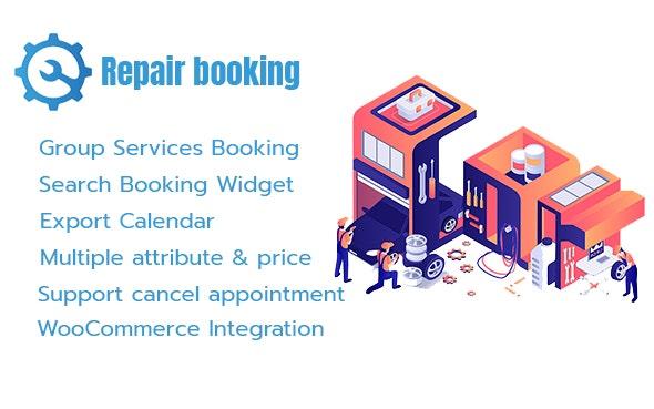Repair Booking - WordPress booking system for repair service industries - CodeCanyon Item for Sale