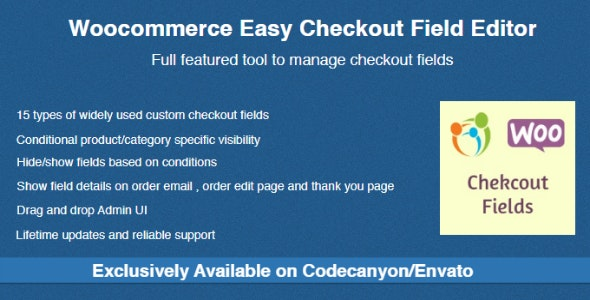 Woocommerce Easy Checkout Field Editor v2.3.4