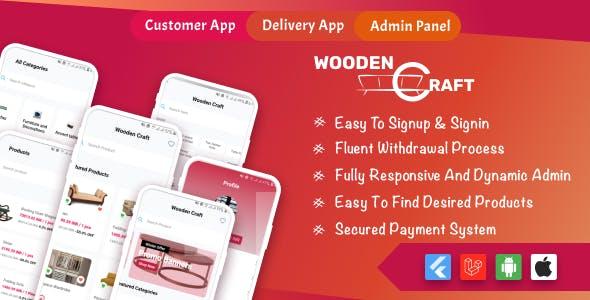 WoodenCraft -Furniture eCommerce Flutter Mobile App with Admin Panel Single Vendor