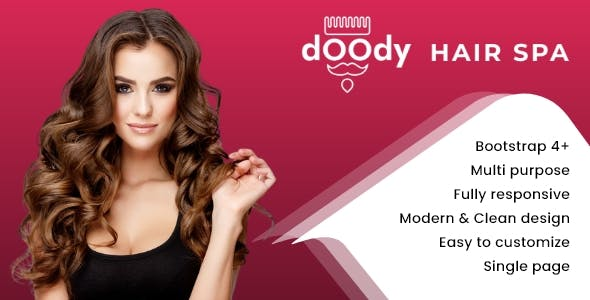 Doody Hair Spa - Saloon Appointment Booking One Page Bootstrap Template