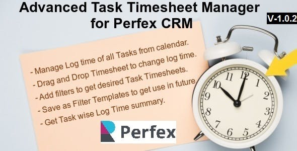 Advanced Task Timesheet Manager Module for Perfex CRM