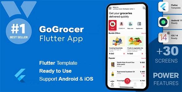 Grocery & Vegetables Flutter App Template   Flutter 2.0 - CodeCanyon Item for Sale