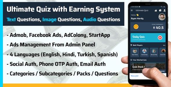 Play Quiz (Text,Image,Audio) & Earn Money