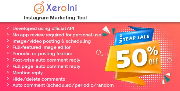 XeroIni - Instagram Post Scheduler & Marketing Tool - CodeCanyon Item for Sale