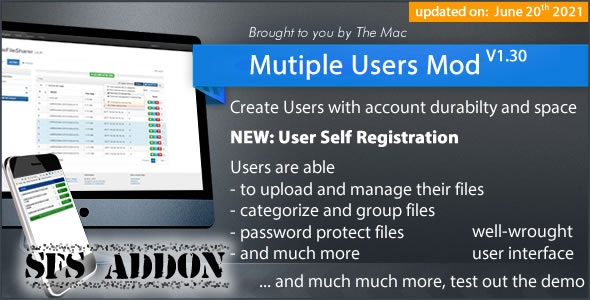 Multiple Users Mod - A Simple File Sharer Module (Addon) - CodeCanyon Item for Sale