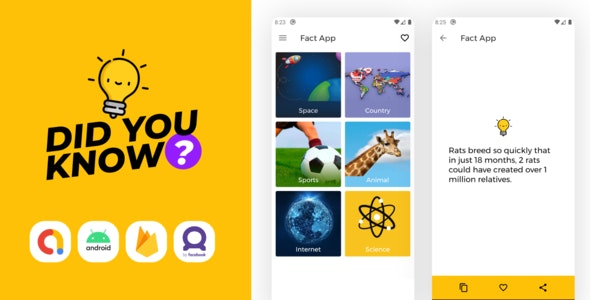 Fact App with Admin Panel and Admob ads   Shayari App - CodeCanyon Item for Sale