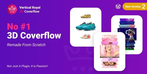 Vertical Royal 3D Coverflow Wordpress Plugin - CodeCanyon Item for Sale