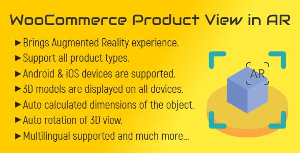WooCommerce Product View in AR (Augmented Reality)   3D Product View