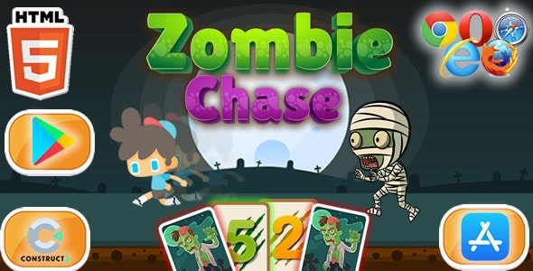 Chase Zombie - HTML5 Game (Construct 3) - CodeCanyon Item for Sale