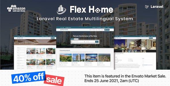 Flex Home - Laravel Real Estate Multilingual System