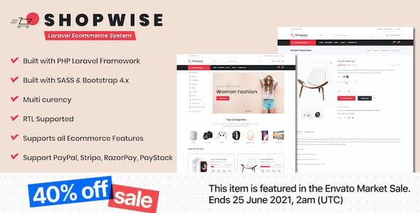 Shopwise - Laravel Ecommerce System