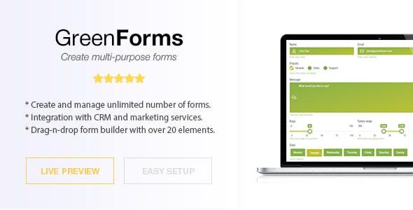 WordPress Form Builder - Green Forms
