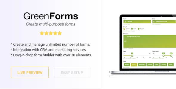 WordPress Form Builder - Green Forms - CodeCanyon Item for Sale