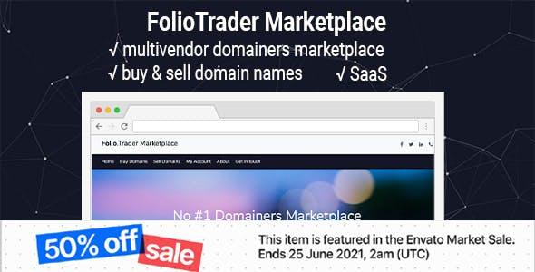 FolioTrader Multivendor - Buy & Sell Domains Marketplace