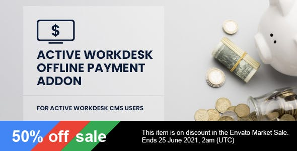 Active Workdesk Offline Payment Add-on