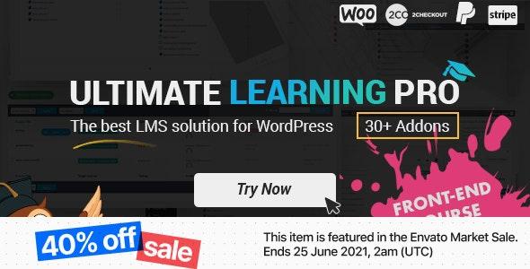 Ultimate Learning Pro WordPress Plugin - CodeCanyon Item for Sale