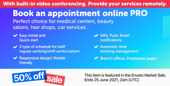 Book an appointment online PRO