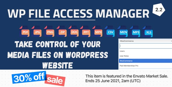 WP File Access Manager - Easy Way to Restrict WordPress Uploads