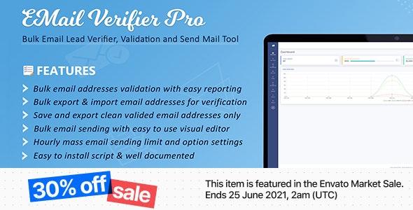 Email Verifier Pro v2.9 – Bulk Email Addresses Validation, Mail Sender & Email Lead Management Tool