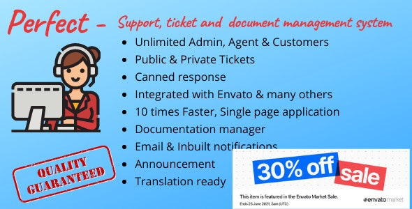Perfect Support ticketing & document management system v1.2