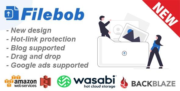 Filebob v1.3.0 – File Sharing And Storage Platform