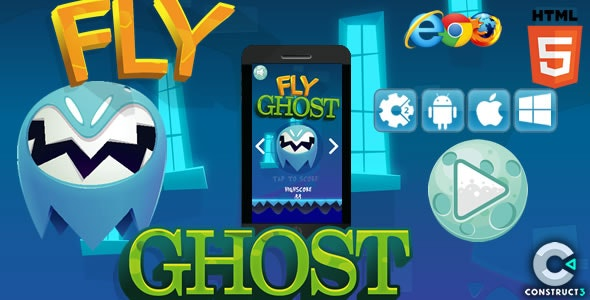 Fly Ghost - HTML5 Premium Game (CAPX) - CodeCanyon Item for Sale