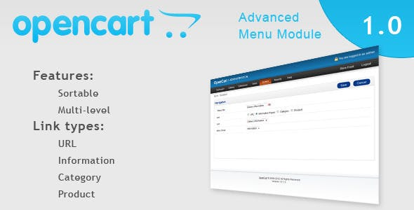 Menu Module for Opencart
