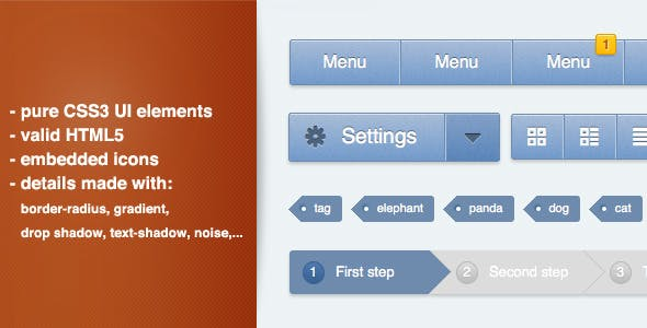 CSS3 Ui Kit - Web Elements