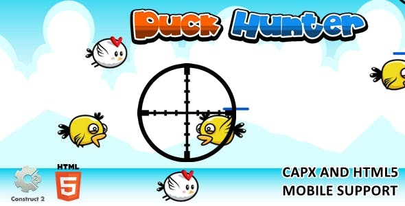 Duck Hunter - Construct 2 HTML5 Game
