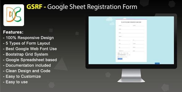 GSRF - Google Sheet Registration Form - CodeCanyon Item for Sale