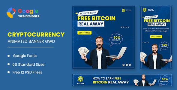 Bitcoin Banner Animated Banner Google Web Designer