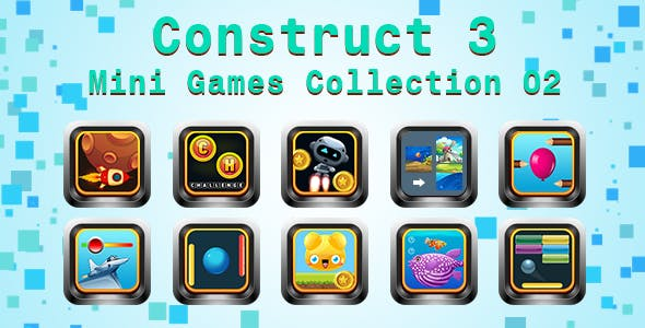 Mini Games Collection 02 (Construct 3 | C3P | HTML5) Customizable and All Platforms Supported