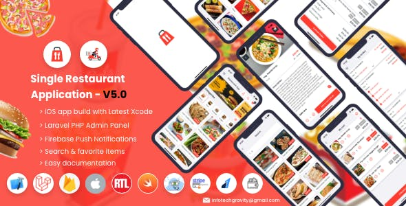 Single Restaurant - iOS User & Delivery Boy Apps With Laravel Admin Panel