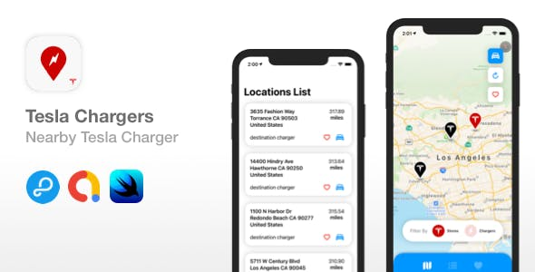 Tesla Chargers - Find Tesla charging stations nearby