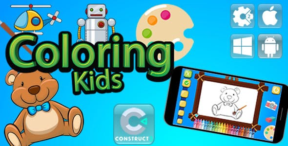 Coloring Kids - Html5 Game - Construct 3 (c3p)