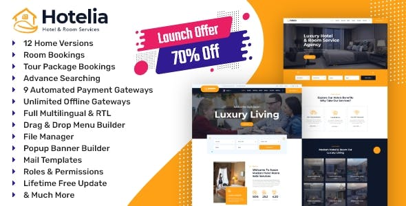 Hotelia - Hotel Booking / Tour Package Booking Management Website