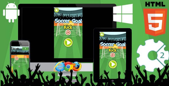 Soccer Goal HTML5 Game - Construct 3 (c3p)