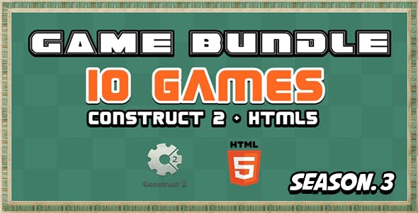 Game Bundle S3 - 10 Construct 2 and Html5 Game