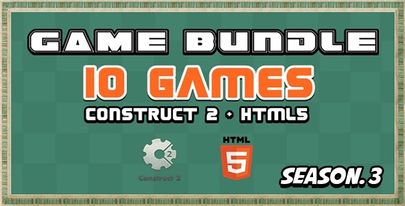 Game Bundle S3 - 10 Construct 2 and Html5 Game - CodeCanyon Item for Sale