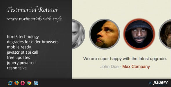 DZS Testimonial Rotator - jQuery powered