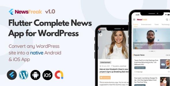 Newsfreak - Flutter News App for WordPress