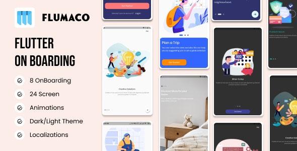 FLUMACO   Flutter OnBoarding - CodeCanyon Item for Sale