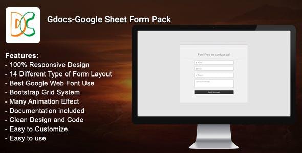 Gdocs - Google Sheet Form Pack