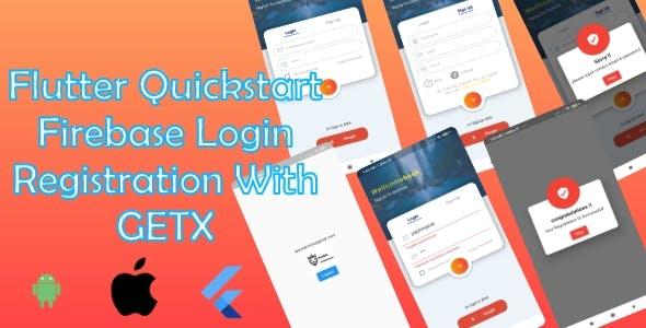 QuickStart Flutter Getx   Firebase - Login and Register with Getx Android & ios