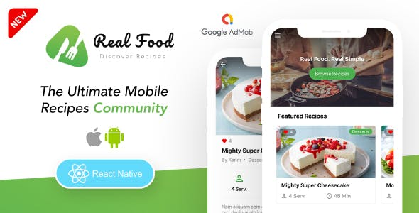 RealFood Mobile | React Native Recipes & Community Food