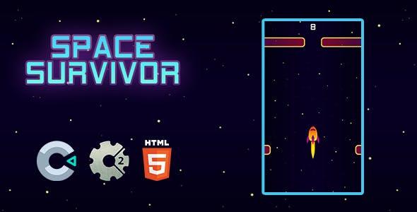 Space Survivor (HTML5 Game, Construct 3 / 2)