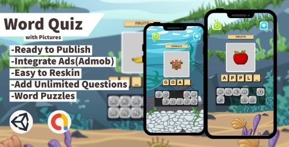 Word Quiz with Pictures (Unity+Admob+Android+IOS)